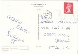 CARTOLINA LONDON PER ITALY - Covers & Documents