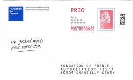 France. PAP Postréponse. Fonfation De France. Timbre: Marianne L'engagée. N° 182202 - 2018-... Marianne L'Engagée