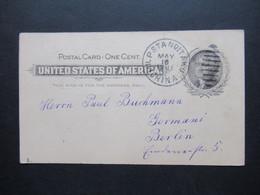 USA GA Verwendet Im Boxeraufstand In China 19.5.1901 Stempel MIL P STA No1 TAKU CHINA 1901 Geschrieben In Tangku - Covers & Documents