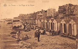 De Panne La Panne La Plage Et La Digue Strand En Dijk Zeedijk Chez Oscar Cabines  Barry 7670 - De Panne