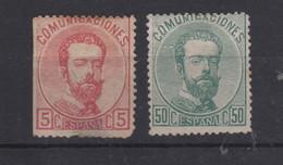 1872 REINADO AMADEO I EDIFIL 126* Y 118(º) VC 151€ - Nuevos