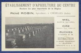 CPSM INDRE (36) - CHEZELLES - ETABLISSEMENT D'APICULTURE DU CENTRE - RENE ROBIN APICULTEUR - Sonstige Gemeinden