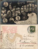 Ansichtskarte Bayreuth Microskopkarte - Persönlichkeiten, Ansichten 1909 - Bayreuth