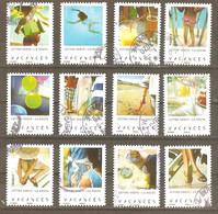 FRANCE 2019 Y T N °1741/1752 VACANCES, Série Complète Oblitérée CACHET ROND - Adhesive Stamps