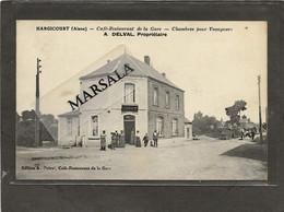 CPA   Hargicourt  Café Restaurant  De La Gare  A. Deval Proriétaire. - Andere Gemeenten