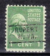 USA Precancel Vorausentwertung Preo, Locals West Virginia, Rupert 729 - Prematasellado