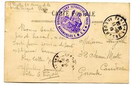 """Camp Retranché De Paris - Cachet  """"Convois Automobiles T.M..C.R  - Voir Scan RV - Guerra 1914-18"""