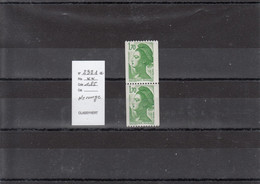 Variété - YT 2321 A - Roulette N° Rouge  (**) - Variedades: 1980-89 Nuevos