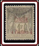 Cavalle Bureau Français - N° 08 (YT) N° 6 (AM) Type II Oblitéré. - Oblitérés