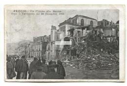 Reggio - Via Plutino Alla Marina, 1908 Earthquake - Old Italy Postcard - Reggio Calabria