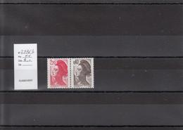 Variété - YT 2376 B - Paire (**) - Variedades: 1980-89 Nuevos