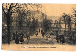 Mons Pensionnat Des Dames Ursulines - Le Jardin Photo Peinture Breger Frères 1908 - Mons