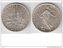 *france 1 Franc 1904 Km 844.1  Xf - H. 1 Franc