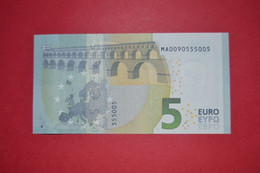 5 EURO M002 A3 PORTUGAL M002A3 - Serial Number MA0090555005 - UNC FDS NEUF - 5 Euro