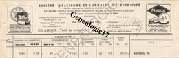 57 0174 METZ MOSELLE 1927 SOCIETE ALSACIENNE ET LORRAINE D ELECTRICITE Rue Pont à Mousson - Wechsel