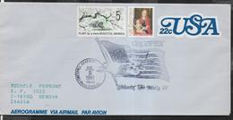 """U.S.A. - ANNULLO SPECIALE """"ORCOPEX - JUL 5,1981 - ORCOPEX STATION- BUENA PARK """" SU AEROGRAMMA VIAGGIATO - Cartas"""