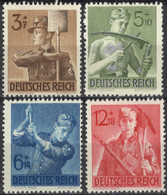 Deutsches Reich 1943. Mi.Nr. 850-853, *, MLH - Ungebraucht