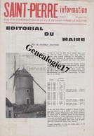 58 0467 SAINT PIERRE LE MOUTIER NIEVRE 1974 EDITORIAL DU MAIRE ( Mairie Journal Commune Communal ) - Geography