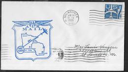 U.S.A. - FIRST FLIGHT - PRIMO VOLO - MILWAUKEE/MINNEAPOLIS - APR 24 , 1960 SU BUSTA UFFICIALE - Cartas