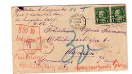 USA Postage Franklin 1931 Los Angeles - Cartas