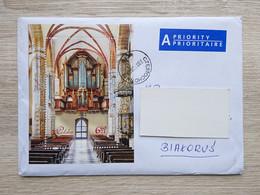 Cover/busta 2020 Poland To Belarus. Polonia/Polen/Pologne 2019 Organ Orgel Basilica Basiliek Music Organo A Canne - Covers & Documents