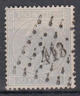 N°18 OBLITERATION LOSANGE  413 LIEGE OUTRE-MEUSE (BON CENTRAGE) - 1865-1866 Profilo Sinistro