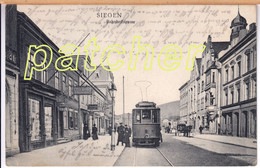 Siegen, Bahnhofstraße, Straßenbahn, 1907 - Siegen
