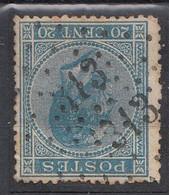 N°18 DOUBLE OBLITERATION LOSANGE  313 ROCLANGE - 1865-1866 Profilo Sinistro