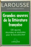 Dictionnaire Des Grandes Oeuvres De La Littérature Française De Jean-Pierre De Beaumarchais (1997) - Wörterbücher