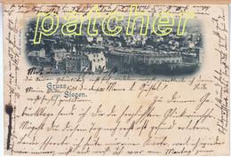 Siegen, Total Mit Lokschuppen, 1898 - Siegen