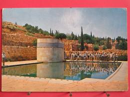 Israël - Jérusalem - Mount Herzl Pool In Memorial Of War Victims - 1963 - R/verso - Israele