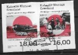 Groënland 2020, Série Oblitérée Adhésifs Europa Routes Postales - Usados