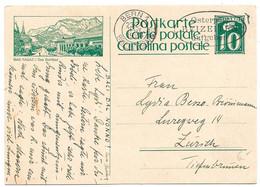 """253 - 25 - Entier Postal Avec Illustration """"Bad Ragaz"""" Oblit Mécanique 1928 - Enteros Postales"""
