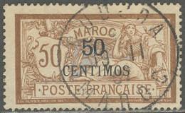 Maroc Bureaux Français 1902-1910 - Oblitération De Oudjda Sur N° 15 (YT) N° 18 (AM). - Gebruikt