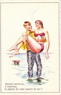 HOLZER  Ed MD N°55  - Humour Femme Pin Up Plage  - CPSM  9x14  ETAT LUXE Neuve - Altre Illustrazioni