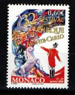 "MONACO 2007 : N° 2602 -  "" 32e FESTIVAL DU CIRQUE "" - Neuf** - - Neufs"