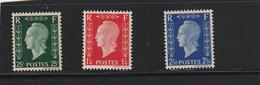 France 701 D/E/F Sans Charnière ** Tirage 10000 - 1944-45 Marianne (Dulac)