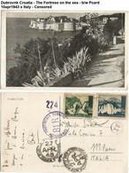 Dubrovnk Croatia - The Fortress On The Sea - B/w Pcard 10apr1943 X Italy - Censored - Croatia