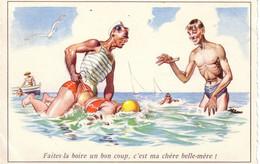 HOLZER  Ed MD N°55  - Humour Plage Maitre Nageur -  CPSM  9x14  ETAT LUXE Neuve - Altre Illustrazioni