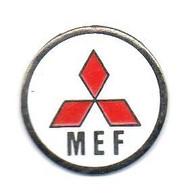 Z160 Pin's Auto Car Logo MITSUBISHI MEF Diamètre 19 Mm Achat Immédiat Immédiat - Mitsubishi