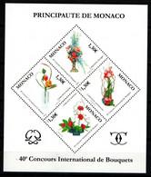 """MONACO 2006 : Feuillet N° 90 (n° 2584-2585-2586-2587) - """" Concours International De Bouquets """" - Neuf** - - Neufs"""