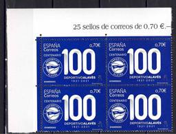 ESPAÑA 2021 ** CENTENARIO CLUB DE FUTBOL DEPORTIVO ALAVES BL.4 - 2011-... Neufs