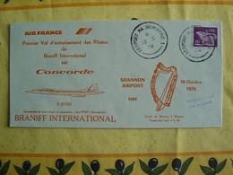 CONCORDE - F-BTSD -- 1er Vol Entrainement Pilotes Braniff Sur Concorde à Shannon Le 18-10-1978 -- Oblitération Shannon - Otros