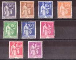 Type Paix N° 363 à 371 - Neufs ** - 1932-39 Paz