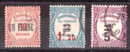 Timbres-Taxe N° 63 à 65 Oblitérés - 1859-1955 Used