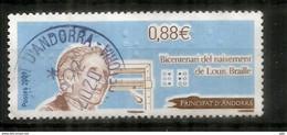Sistema De Escritura Táctil LOUIS BRAILLE, Sello Cancelado, Primera Calidad - Used Stamps