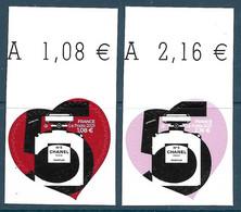 Adhésif - Chanel N°5 - Cœurs 1,08 + 2,16 BDF (2021) Neuf** - Adhésifs (autocollants)