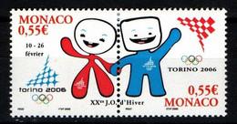 "MONACO 2006 : N° 2529-2530 - Paire "" JO Turin "" - Neuf** - - Neufs"