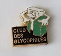 Pin's  Alimentation, Association  CLUB  DES  GLYCOPHILES  Cartouche  Noire - Associations