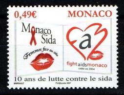 """MONACO 2006 : N° 2570 -   """"  Lutte Contre Le Sida """" - Neuf** - - Neufs"""